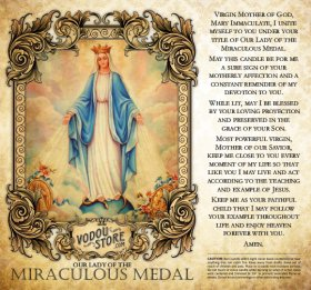 7-Day Candle Label - O.L. of the Miraculous Medal