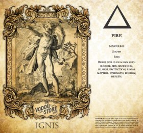 7-Day Candle Label - Ignis (Fire)