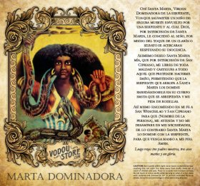 7-Day Candle Label - Marta Dominadora