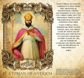 7-Day Candle Label - St. Cyprian of Antioch