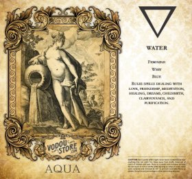 7-Day Candle Label - Aqua (Water)