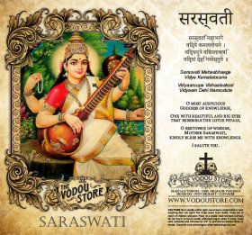 7-Day Candle Label - Saraswati