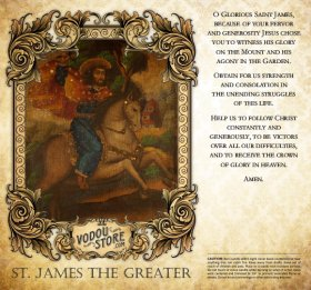 7-Day Candle Label - St. James the Greater (Santiago Matamoros)