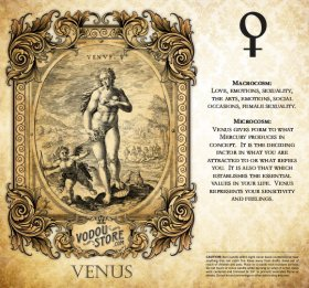 7-Day Candle Label - Venus