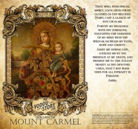 7-Day Candle Label - O.L. of Mount Carmel