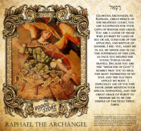 7-Day Candle Label - Raphael the Archangel