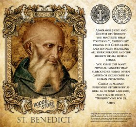 7-Day Candle Label - St. Benedict