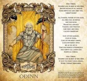 7-Day Candle Label - Odin