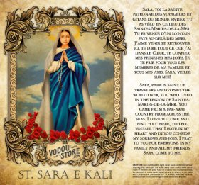 7-Day Candle Label - St. Sara e Kali