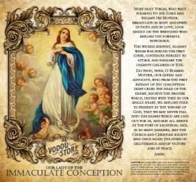 7-Day Candle Label - O.L. of the Immaculate Conception