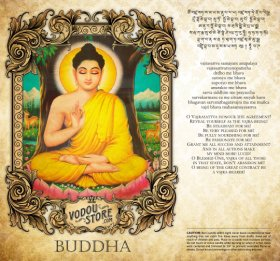 7-Day Candle Label - Buddha