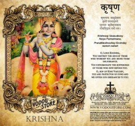 7-Day Candle Label - Krishna