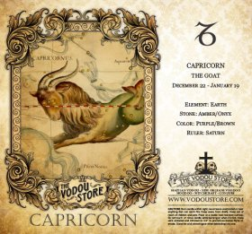 7-Day Candle Label - Capricorn