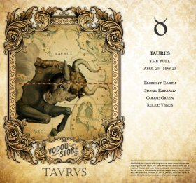 7-Day Candle Label - Taurus