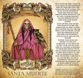 7-Day Candle Label - Santa Muerte (LGBT)