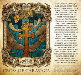 7-Day Candle Label - Cross of Caravaça