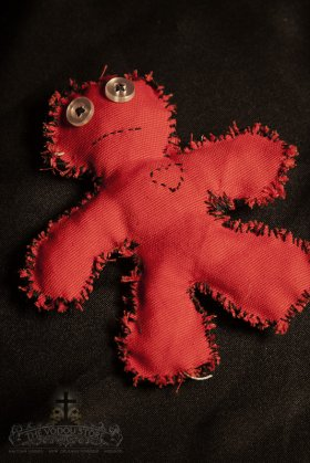 Poppet/Voodoo Doll - Red (Small)