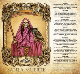 7-Day Candle Label - Santa Muerte (Rosa)