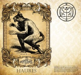 7-Day Candle Label - Haures (Flauros)