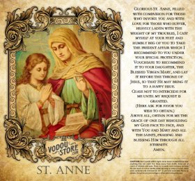 7-Day Candle Label - St. Anne