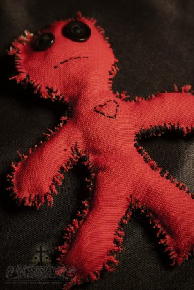 Poppet/Voodoo Doll - Red (Large)