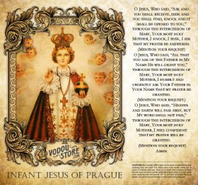 7-Day Candle Label - Infant Jesus of Prague
