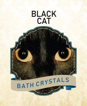 Black Cat Bath Crystals