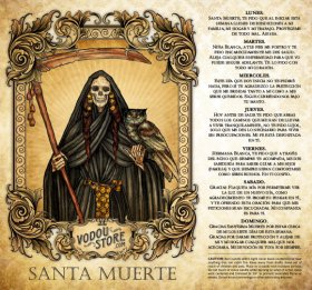 7-Day Candle Label - Santa Muerte (Negra)