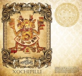 7-Day Candle Label - Xochipilli