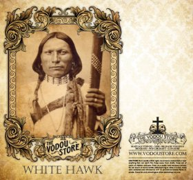 7-Day Candle Label - White Hawk