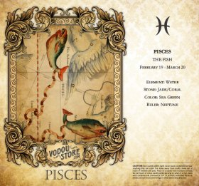 7-Day Candle Label - Pisces