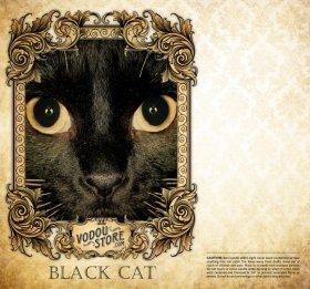 7-Day Candle Label - Black Cat