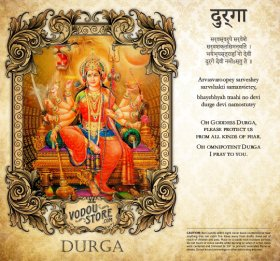 7-Day Candle Label - Durga