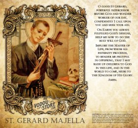 7-Day Candle Label - St. Gerard Majella