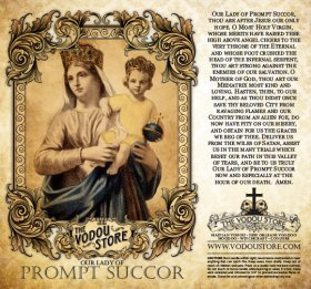 7-Day Candle Label - O.L. of Prompt Succor