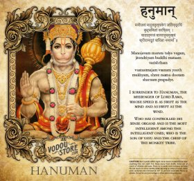 7-Day Candle Label - Hanuman