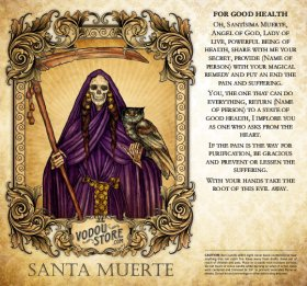 7-Day Candle Label - Santa Muerte (For good health)