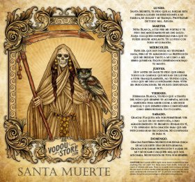 7-Day Candle Label - Santa Muerte (Hueso)