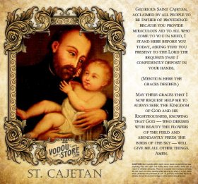 7-Day Candle Label - St. Cajetan