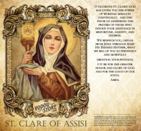 7-Day Candle Label - St. Clare of Assisi
