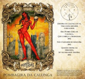 7-Day Candle Label - Pombagira de Calunga