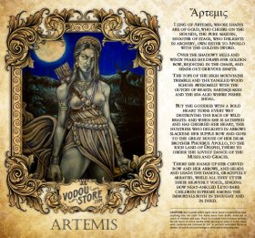 7-Day Candle Label - Artemis