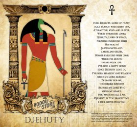 7-Day Candle Label - Djehuty (Thoth) (A)