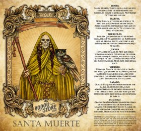 7-Day Candle Label - Santa Muerte (Dorada)
