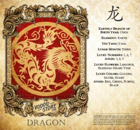 7-Day Candle Label - Dragon