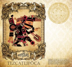 7-Day Candle Label - Tezcatlipoca