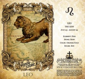7-Day Candle Label - Leo