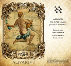 7-Day Candle Label - Aquarius