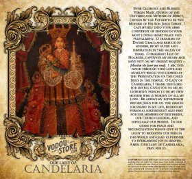 7-Day Candle Label - O.L. of Candelaria