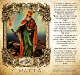7-Day Candle Label - St. Martha